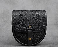 Кожаная женская сумка, сумка через плечо, мини сумочка, черная сумка, фото 1