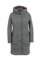 Женская весенняя куртка больших размеров  50-60 оливковый