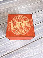 Компактная коробка для подарка  Love. Подарочные коробки из дерева.