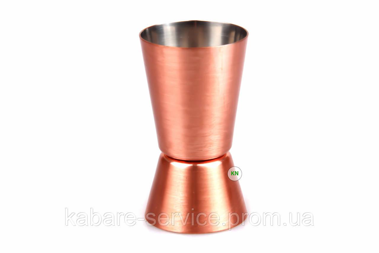 Джиггер 20\40 мл профи (бронзовая сталь)