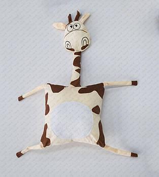 """Подушка-игрушка """"Жираф 20201"""" плюшевая с местом для сублимации"""
