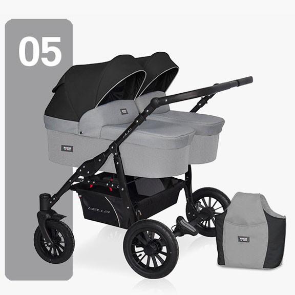 Дитяча універсальна коляска для двійні Riko Saxo 05