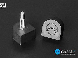 CASALI Standart, р.9 (9х9 мм) шт.2.9мм черный набойки полиуретановые на штыре