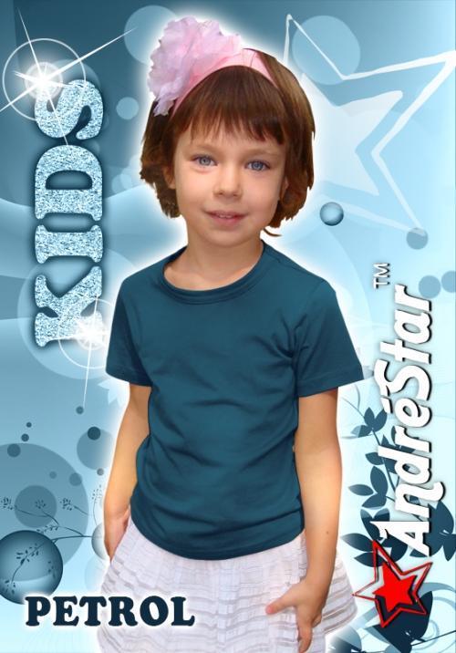 """Дитяча футболка """"AndreStar Kids"""" Petrol"""