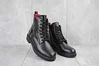 Женские ботинки кожаные зимние черные VanGirls Ким, фото 1