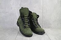 Женские ботинки кожаные зимние зеленые Vikont 7-7-32, фото 1