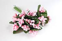 Добавка веточки с тычинками 144 шт/уп. нежно-розового цвета БОМ оптом