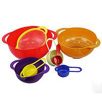 Кухонный набор WL из пластиковой посуды на 8 предметов Радуга (W/4968)