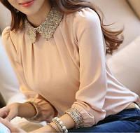 Красивая офисная блузка, 3 цвета, фото 1