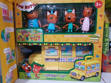 Игровой набор «Три кота» Кемпер Camper car Трейлер M-8805, фото 2