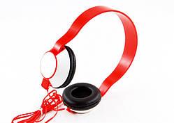 Навушники гарнітура накладні SH-35, червоні