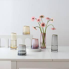 Ваза Xiaomi Yuihome Decor Colorful Simple Glass Flower 22см (Gold)