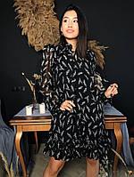 Женское нарядное платье из шифона. М-4-0120
