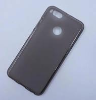 Силиконовый чехол для Xiaomi Redmi Note 5a / Redmi Y1 Lite черный прозрачный