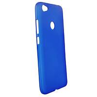 Силиконовый чехол для Xiaomi Redmi Note 5a / Redmi Y1 Lite синий прозрачный