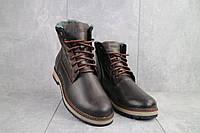 Мужские ботинки кожаные зимние коричневые Riccone 515, фото 1