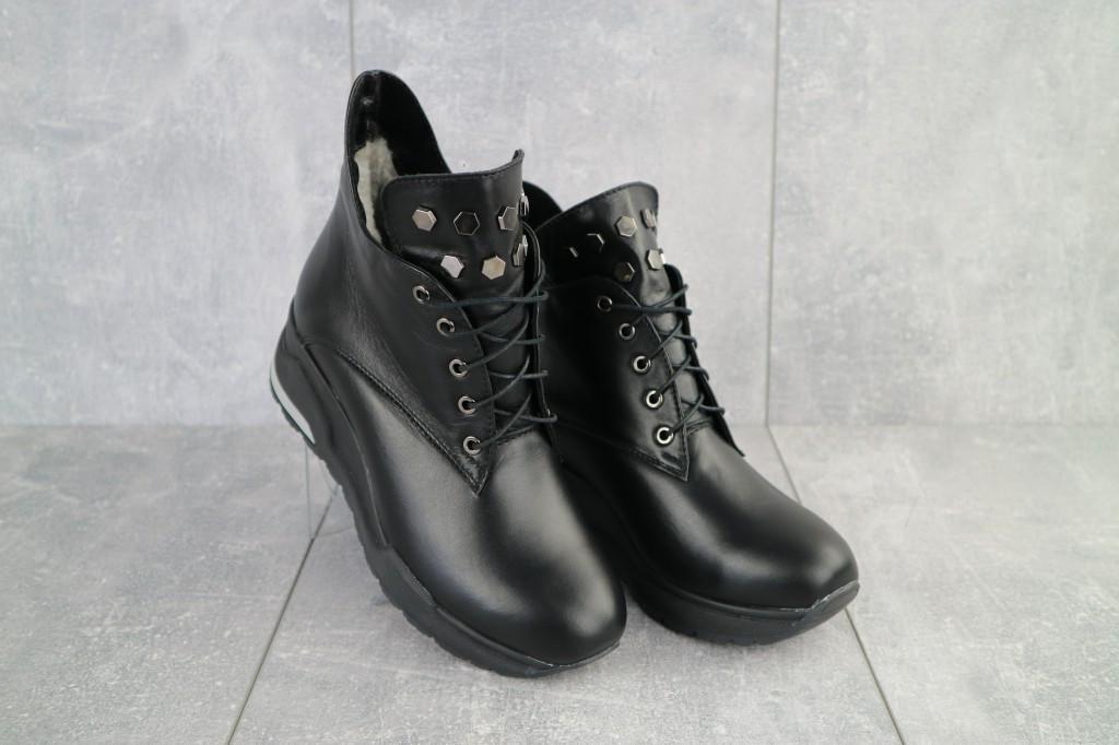 Женские ботинки кожаные зимние черные Emma Z -061