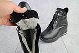 Женские ботинки кожаные зимние черные Emma Z -061, фото 5