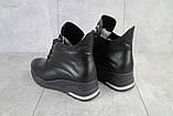 Женские ботинки кожаные зимние черные Emma Z -061, фото 7