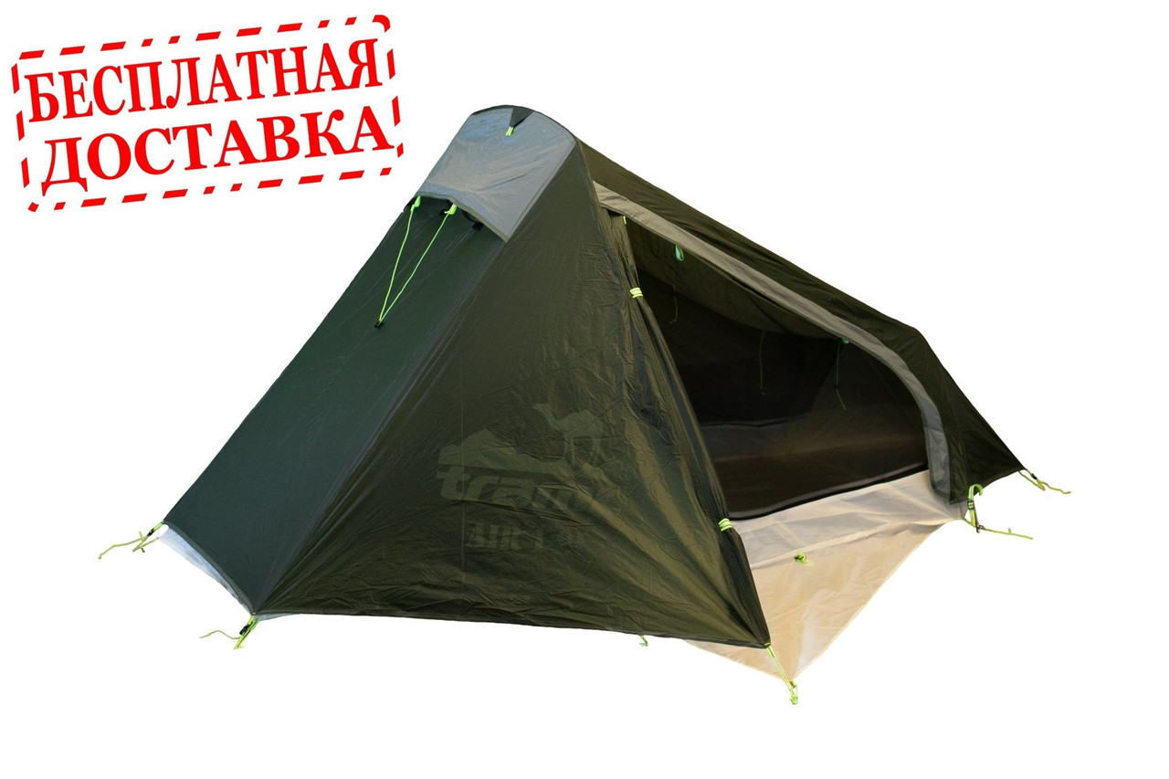 Палатка Tramp Air 1 Si TRT-093-Green (Темно-зеленая)