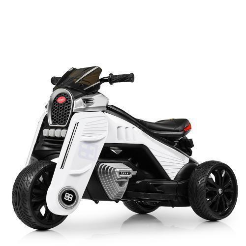 Детский мотоцикл M 4113EL-1 белый