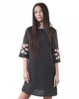 Чорне плаття вишиванка (в розмірі XS - 3XL)