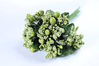 Добавка веточки с тычинками 6 шт/уп. зеленого цвета БОМ, фото 1