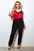 Жіночі штани з лампасами великих розмірів, костюмна тканина, розмір 48-50, 50-52, 52-54, 54-56, фото 6