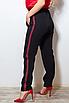 Жіночі штани з лампасами великих розмірів, костюмна тканина, розмір 48-50, 50-52, 52-54, 54-56, фото 4