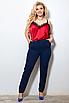 Женские классические брюки со стрелками больших размеров, костюмная ткань, размеры 48-50, 50-52, 52-54, 54-56, фото 6