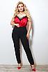 Женские классические брюки со стрелками больших размеров, костюмная ткань, размеры 48-50, 50-52, 52-54, 54-56, фото 3