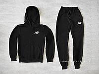 Мужской спортивный костюм New Balance черный , толстовка маленькая эмблема реплика