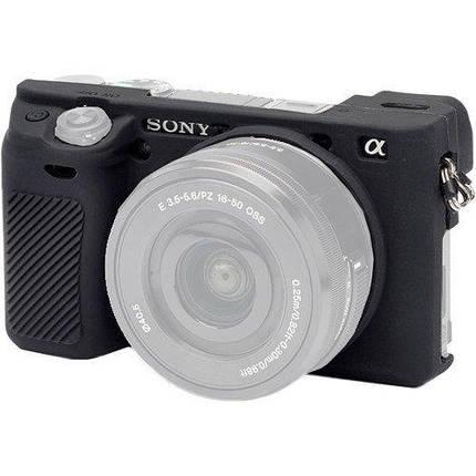 Защитный силиконовый чехол для фотоаппаратов SONY A6300, A6400 - черный, фото 2