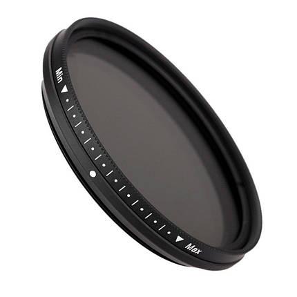 Нейтрально-сірий світлофільтр FOTGA зі змінною щільністю 46 мм ND2 - ND400, фото 2