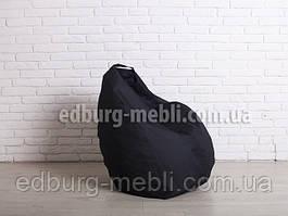 Кресло мешок груша средний  черный Oxford