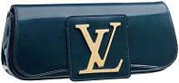 Женский кожаный лаковый клатч Louis Vuitton. Вечерняя сумочка