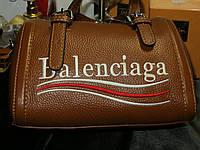Женская кожаная сумочка Balenciaga  (Горчица)