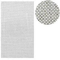 Коврик для маникюра силиконовый со стразами, белое серебро