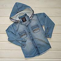 ✅Рубашка джинсовая голубая для мальчика. Размеры 98 104 110 128