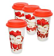 Чашки и другая посуда ко Дню Влюбленных