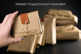Портмоне класика з монетницею шкіра Італійський Краст колір Чорний, фото 3