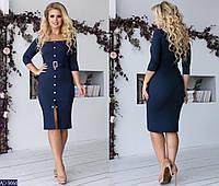 Красивое женское платье синего цвета, размеры: 48-50, 50-52