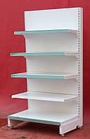 Торговые односторонние (пристенные) стеллажи «Eden» 175х91 см., белый, Б/у, фото 1