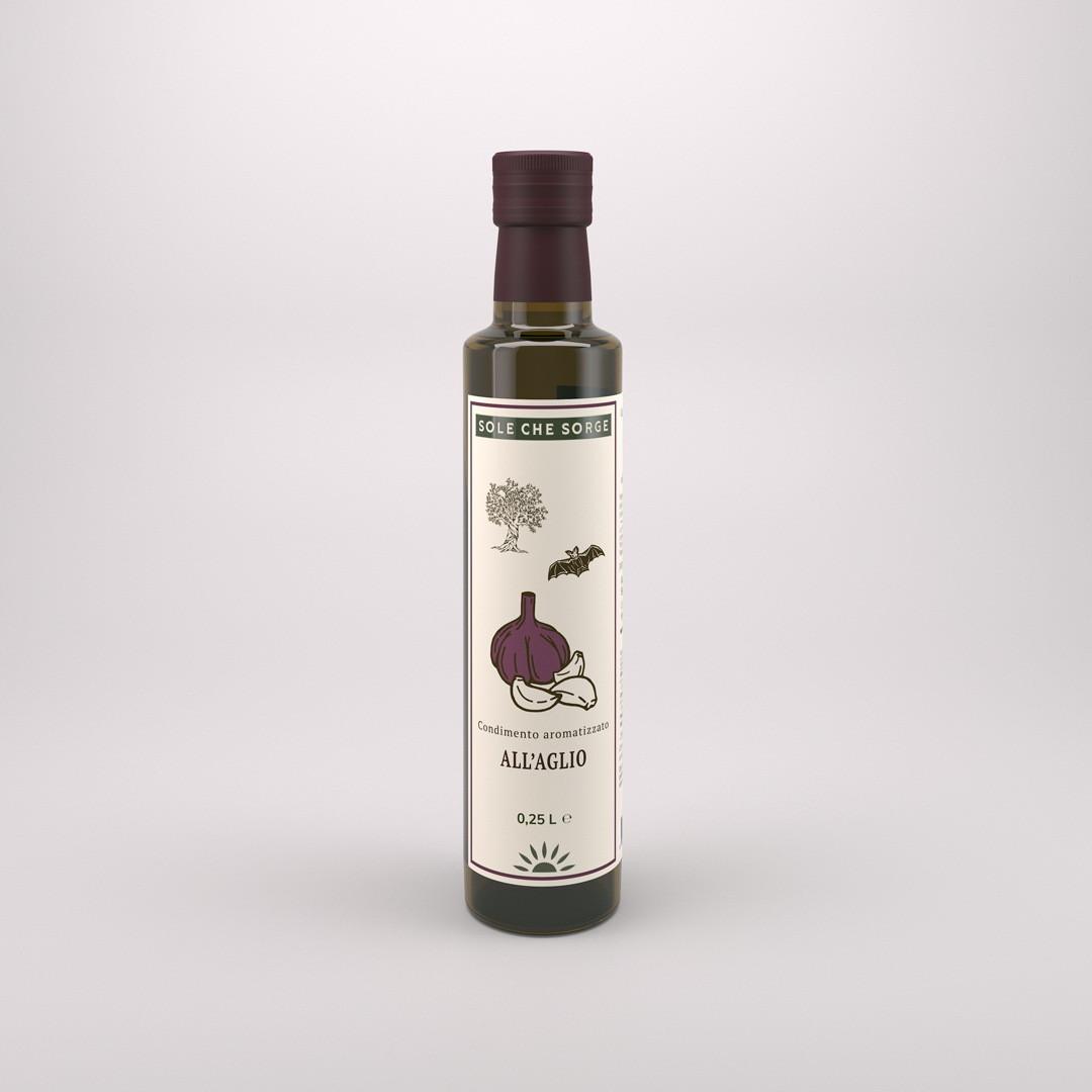 Заправка из Сицилийского оливкового масла Extra Vergine с чесноком Sole che Sorge. 250 мл