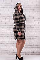 Кардиган вязаный  женский большого размера  50-54 коричневый