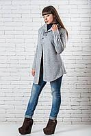 Кардиган вязаный женский теплый 42-50 светло-серый