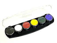 Палитра аквагрим ГримМастер 6 основных цветов по 10 g.