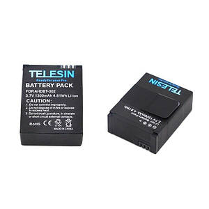 Аккумулятор TELESIN - AHDBT-302 (AHDBT-301, 201) для GoPro Hero 3 - аналог 1300 ma