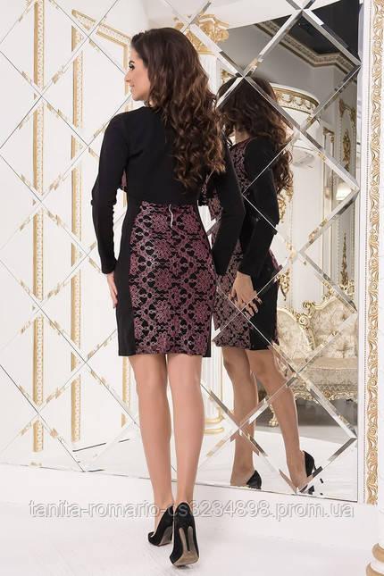 Коктейльное платье 7260e Бордо M(р)