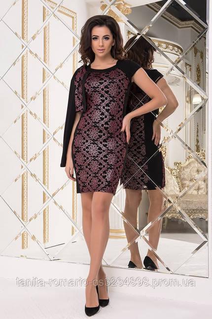 Коктейльное платье 7260e Бордо S(р)